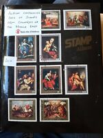 Stamp Album With Mint And Used sets of   Stamps from Middle East. 16 pages.