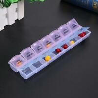 7 Tage 14 Fächer Tablettenbox Pillenbox Medikamentendose Pillendose Pillenturm