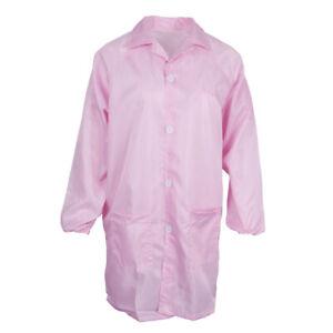 Unisex ESD-safe Anti-Static Lab Coat Jacket Smock Overall Dental Clothing