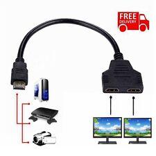 1080P Repartiteur Multiprise HDMI Splitter 1 Entree Male / 2 sorties Femelle