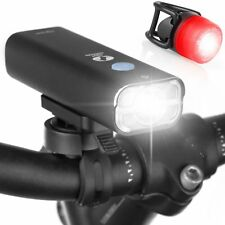NEW TeamObsidian ProLight Rechargeable Bike Head Light + Free Rear Light