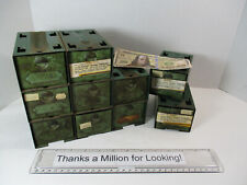 10 Old Industrial Metal Parts Cabinet Stackable Drawers Small Bins With Parts