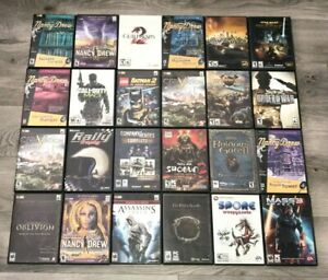 PC CD/DVD Rom Games Complete Fun Pick & Choose Video Games Lot Updated 4/21/21