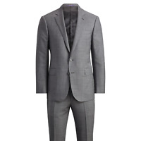 Ralph Lauren Purple Label Mens Anthony Grey Sharkskin Modern Wool Slim Suit 40R