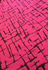 "Italian Printed Silk Chiffon Fabric, 8mm, 45"", By The Yard, Geo Print"