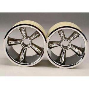 Traxxas TRA4174 Front Pro Star Chrome Wheel(2) Nitro Rustler Nitro Stampede Jato