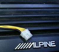 Alpine 8 pin 4 channel speaker high level input cable amp car audio