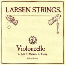 New Larsen 4/4 Cello String Set: Medium Gauge - FREE USA SHIPPING