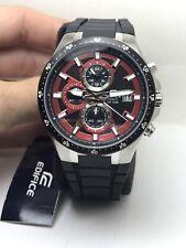 Casio EFR519 Edifice Day & Date Chronograph Black Resin Strap Men's Watch-R1