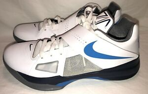 Nike Zoom KD IV Basketball Shoe Size 10.5 Men's White/Blue 473679~100