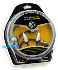 MEMPHIS UTPF-3 3-FEET 2-CHANNEL ULTRA TWISTED RCA AUDIO AMPLIFIER CABLE WIRE NEW