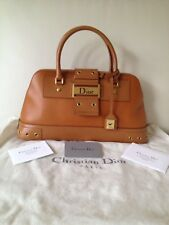 Christian Dior Uptown Bolsa calle Chic era en Marrón Beige Oro Diseñador Bolso De Mano