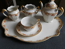 BOISBERTRAND et THEILLOUD  PORCELAINE LIMOGES SERVICE A CAFE EGOISTE 1900/1938