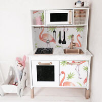 IKEA DUKTIG removable Decal self-adhesive sticker for furniture Leafs Flamingo