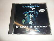 Cd    Cappella  ‎– U Got 2 Know