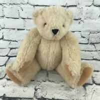 Vermont Teddy Bear Plush Tan Cream Classic Jointed Soft Stuffed Collectible Toy
