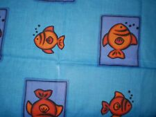 Retro Funky LARGE FISH Fabric (50cm x 50cm)