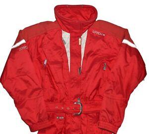 Spyder XTL Vintage Snow Ski Suit Womens Size 10 Red White Jumpsuit