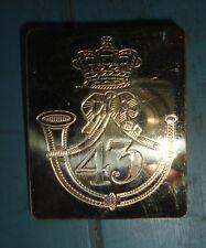 British- 43rd  regiment of Foot cross belt  plate