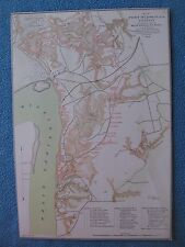 Civil War Map Print of Port Hudson, Louisiana, Locations of Batteries, 1864
