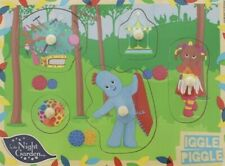 CBEEBIES IN THE NIGHT GARDEN WOODEN TOY PEG JIGSAW PUZZLE IGGLE PIGGLE 12M+
