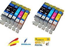 10x Cartuchos de Tinta NON OEM para Canon PIXMA mg5500 mg5600 mg6300 set