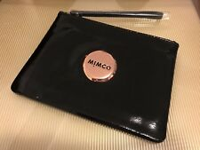 Authentic Mimco Medium MIM POUCH Black Rose Gold Wallet Patent Leather RRP$99.95