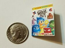Miniature dollhouse Disney Princess book Barbie 1/12 Scale Inside out Movie W