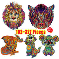 Wooden Cartoon Design Adult Kids Toy Home Decor Puzzle Jigsaw Pieces NEW 2020