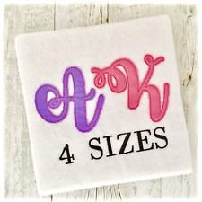 Bean Stitch Applique Fonts Machine Embroidery Designs - 4 Sizes - IMPFCD64