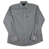 Faconnable Multicolor Striped Button Front Long Sleeve Mens Large Tall