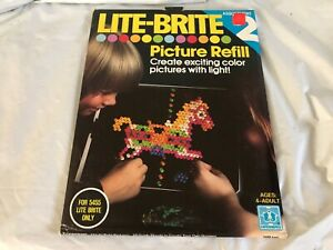 Vintage sealed 1970s lite brite refill sheets Assortment 2 American Eagle+ More