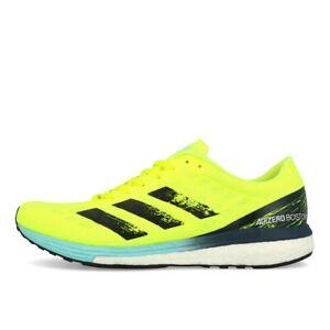 adidas Adizero Boston 9 M Herren Solar Yellow Black Clear Aqua Laufschuhe Gelb