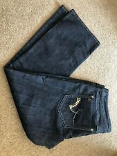 RIVER ISLAND LADIES JEANS SIZE 16S, DARK BLUE, SEXY BOOT LENGTH