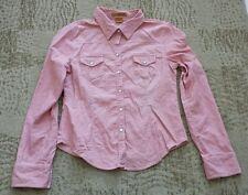 Refuge Button Down Shirt size large L - pink