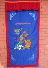 Dragon Embroidered Silk Tibetan Door Curtain