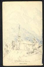 Carte Postale Dessin St GERVAIS les BAINS St NICOLAS de VÉROCE Dôme de Miage