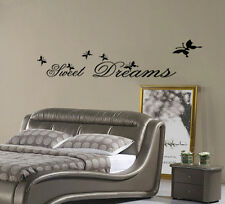Wall Art Mural Decal Sticker Home Decor Bedroom Sweet Dreams Words Butterfly hot