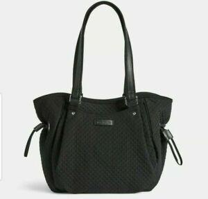 Vera Bradley Glenna Satchel Handbag Purse In Microfiber Classic Black
