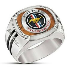 FORD MUSTANG WILD HORSE 925 STERLING SILVER MEN'S RING