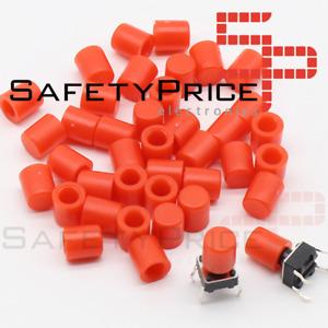 5x Tapon A56 tapa Pulsador Tactil Micro interruptor 6*6 ROJO