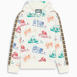 GUCCI x DISNEY Oversized Cotton Sweatshirt Hoodie With GG Stripe