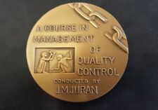 Medallic Art Co N.Y. J.M. Juran Course in Management Quality Control Bronze