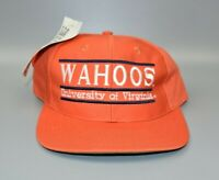 Virginia Cavaliers Wahoos Vintage 90's The Game Split Bar Snapback Cap Hat - NWT