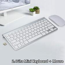2.4Ghz Mini Wireless Keyboard + Mouse Set for Mac PC Computer Waterproof