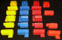 Game Parts Pieces Prize Property Milton Bradley Red Yellow Blue Orange Buildings