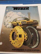 Vintage 1977 Weber Performance Clutch Systems Catalog