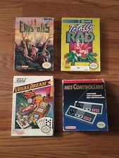 Nintendo Nes Box Only Lot Controllers Crystalis Totally Rad Free Shipping