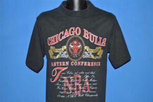 vtg 90s CHICAGO BULLS 1991 NBA EASTERN CONFERENCE NUTMEG BASKETBALL t-shirt M
