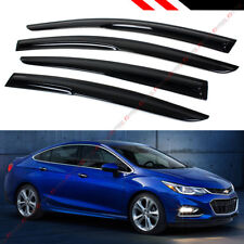 FOR 2017-19 CHEVY CRUZE SEDAN & HATCHBACK WAVY WINDOW VISOR RAIN GUARD DEFLECTOR